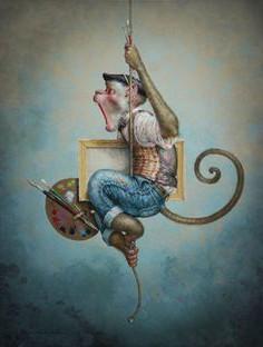 festő majom