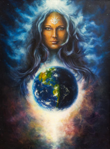©-Jozefart-Dreamstime.com-Spiritual-IllustrationBeautiful-Oil-Painting-On-Canvas-Of-A-Woman-Goddess-In-Space-Eye-Contact-Photo1-222x300