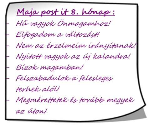 Maja post it 8.hónap