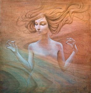 floating-hair-beautiful-woman-meditating-spiritual-awakening-rebirth-ohm-painting