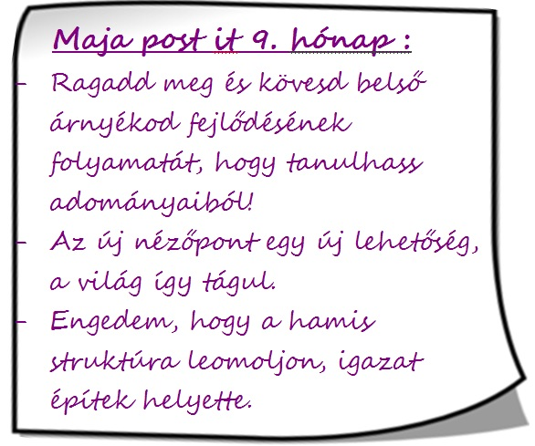Maja post it 9.hónap