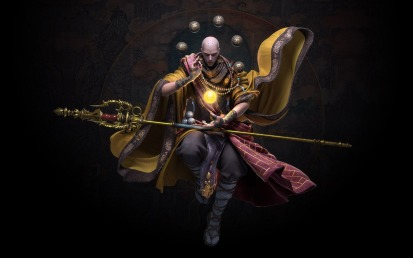 warrior zen monk