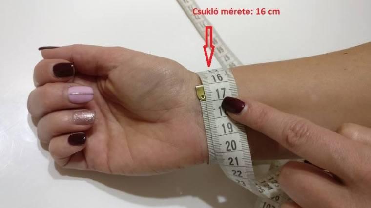 csukló mérése