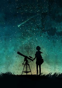 30e3a60a9e52e047705baaace2545b33--stargazing-telescope-anime-stars